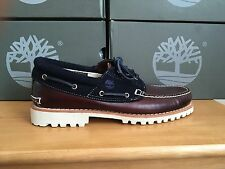 Timberland Authentic 3 Eye Brown/ Navy Boat Shoes Uk 14.5 Eu 50 9752B RRP £130