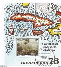 Block 48 Nationale Briefmarkenausstellung Havanna 1975