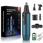 Ear and Nose Hair Trimmer 2021 Professional USB Rechargeable Blue-chargeable