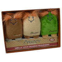 Spuddy Drawer Fresheners Novelty Potato Cushion Pack Of Three Air Fragrance