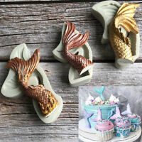 3D Mermaid Tail Silicone Cake Fondant Sugarcraft Mould Chocolate Baking Mold DIY