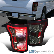 For Ford 15-17 F150 Pickup Red Smoke LED Tail Lights Brake Lamps Left+Right