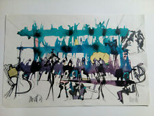 "Raymond Moretti (1931-2005) ""Musiciens"" Lithographie signée"