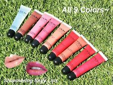 Cherimoya Max Shimmer Lip Gloss Set - All 9 Pcs! Red, Coral, Pink with Shimmer