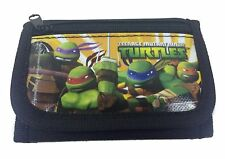 New Teenage Mutant Ninja Turtles Black Tri-Fold Mini Wallet Purse for Kids