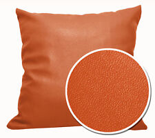 Pb317a Orange-Brown Faux Leather Skin PU Cushion Cover/Pillow Case *Custom Size*