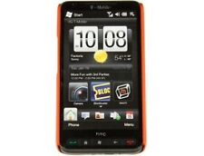 Rubberized Protector Cover Case Orange For HTC HD2