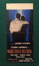 LOCANDINA ORIGINALE VAGHE STELLE DELL'ORSA LUCHINO VISCONTI CLAUDIA CARDINALE J