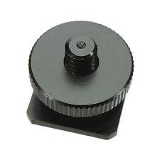 1/4'-20 Tripod Screws to Flash Camera Hot Shoe Mount Adapter Aluminum Metal New