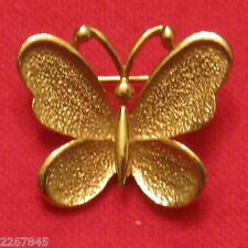 "Sarah Coventry Butterfly Brooch Gold Plated 1"" Scatter Pin ✿ VTG"
