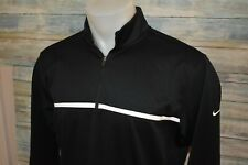 Nike Golf Therma-Fit Men's L/S Soft Polyester 1/4 Zip Pullover Black Size Medium