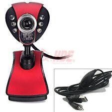 USB 2.0 6 LED 12 Megapixel Webcam Camera with 3.5mm Mic for Desktop PC Laptop