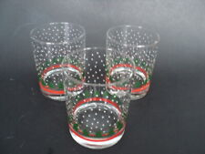 "3 WAECHTERSBACH CHRISTMAS TREE GLASSES 4 1/8"" lowball Drink Holiday Tumblers"