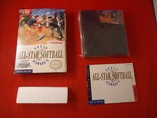 Dusty Diamond's All-Star Softball Nintendo NES 1990 COMPLETE w/ Box manual game