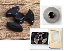 Fidget Spinner Triangolo Metallo Nero Cuscinetto Ceramica 2-4min Antistress