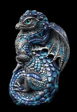 """Windstone Editions """"Blue Lightning"""" Young Dragon Test Paint #1"""