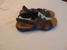 Women's Clarks Collection Brown/White Strappy Sandals-7.5M