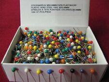 1000 Stecknadeln mit farbigem Plastikkopf Nadeln Sicherheitsnadeln