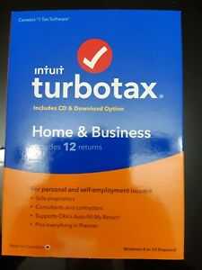 Intuit TurboTax Home & Business 2020, 12 Returns, Bilingual