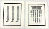 1899 Antico Set Di Impronte Thomas Sheraton Mobili Ornamentale Legno Sculture