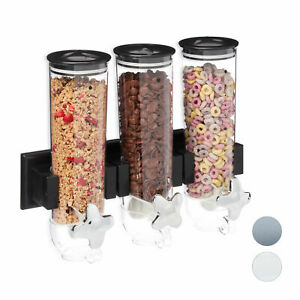 Müslispender 3er, Cerealienspender Wand, Cornflakes Behälter, Kornflakes Spender
