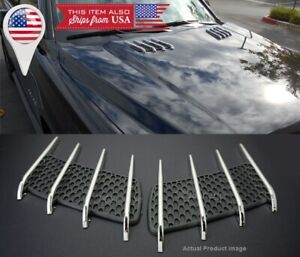 1 Pair Euro Hood Engine Vent Grill Louvered Scoop Cover Panel For Chevy !USA!!