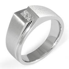 0.40Ct Men's Princess Cut Diamond F VVS2 Wedding Band Ring 14k White Gold 9.10mm
