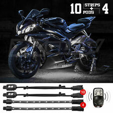 14 Pc Remote Control Motorcycle Car Atv Boat Accent Neon Lighting Kit - White