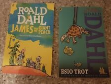 Roald Dahl James And The Giant Peach and Esio Trot paperback books. As new