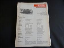 Original Service Manual Nordmende Transita automatic