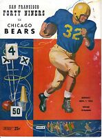 1953 (Nov. 1) NFL Football Program, Chicago Bears @ San Francisco 49ers ~ FAIR