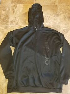 Womens Adidas Black Hoodie Hooded Sweatshirt Large L