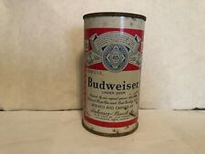 Rare 1960s Budweiser Lager Beer Flat Top, Includes Houston On List Of Cities