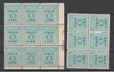 FRANCOBOLLI- 1943 REGNO OCCUPAZIONE L.5 - 15 VALORI ANGOLO AMERICANO MNH Z/8549