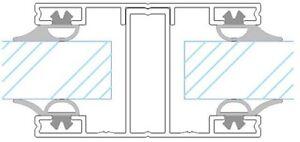 Verlegeschiene für 16mm Stegplatten - Mittelsprosse ab € 12,90 per Meter