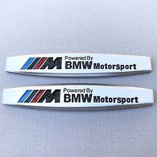 NEW (2pc) BMW MOTORSPORT M POWER LOGO FENDER METAL EMBLEM NAMEPLATE BADGE EM120