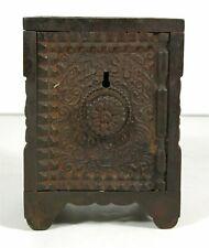 1897 CAST IRON TREASURE SAFE FLOOR SAFE FORM FIGURAL STILL BANK By J E STEVENS