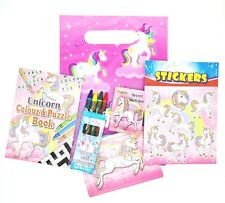 Pre filled Ready Made Party Bags Birthday Celebration Girls Toys Unicorns Pink