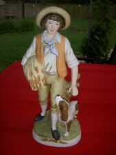 Homeco No. 8805 - Boy with Setter Figurine - 1980's