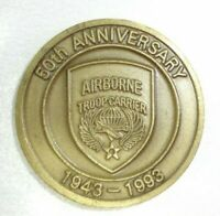 RARE! 50th Anniv 1943 - 1993 Airborne Troop Carrier Golden Gate Challenge Coin!