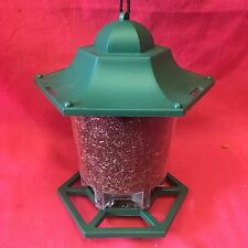 Hexagon Plastic Wild Garden Bird NIGER Seed Feeder 6 Multi Port Perch FREE SEED