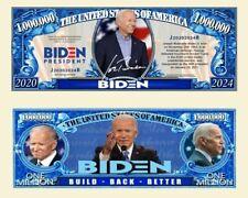 Joe Biden Democratic Party Collectible Novelty Million Dollar Bills 25 Pack