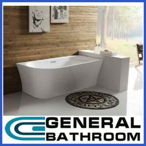 Acrylic Corner Free Standing Bath Tub 1500 x 780 x 600mm