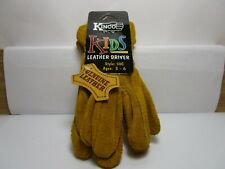 Nos Kinco Kids Genuine Leather Driver Gloves Style 50c Ages 3 6