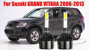 LED For GRAND VITARA 2006-2013 Headlight Kit H7 6000K White CREE Bulbs Low Beam