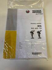 Wacker Neuson Vibratory Rammer Bs 50 60 70 Operators Manual