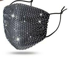 Bling Rhinestone Glitter MESH Fashion Face Mask COVER  US SELLER FAST SHIPPING