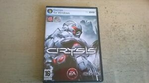 CRYSIS 1 - FPS SHOOTER PC GAME - FAST POST - ORIGINAL & COMPLETE WITH MANUAL VGC