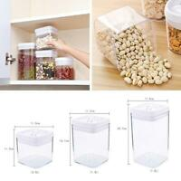 Kitchen Airtight Food Storage Container Cereal Dry Plastic Clear Pantry W0F4