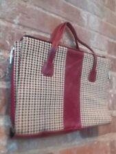 Herringbone Multi-Color Red Black Beige Small Satchel Tablet Case Bag HiddenJuel